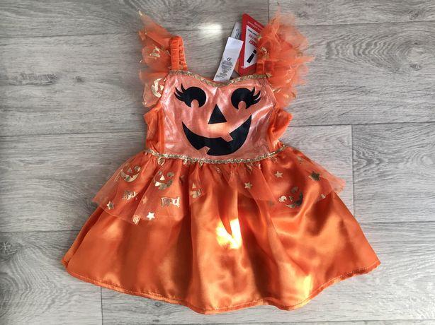Платье тыквы на Хэллоуин Helloween 12-18 мес новое