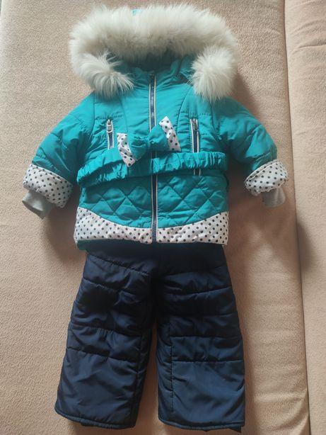 Детский зимний комплект (куртка и штаны) комбинезон зимний