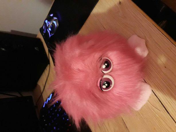 Zabawka interaktywna pluszowa różowa kuleczka