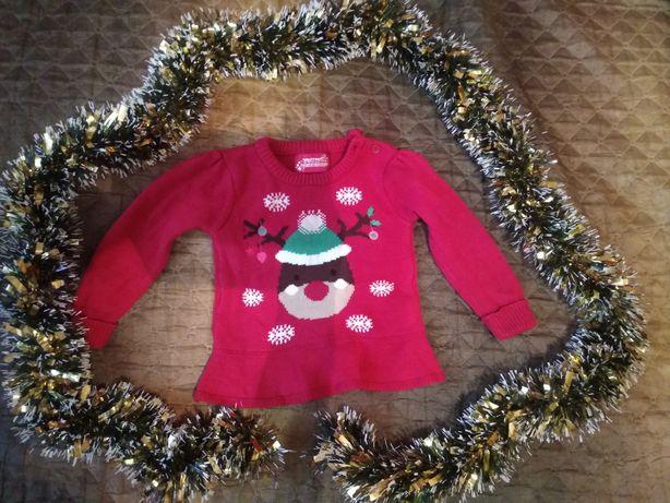 Новогодний свитер на девочку