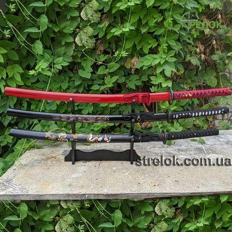 Набор из трех сувенирных самурайских мечей KATANA SET №1