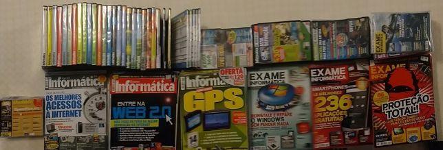 Lote de revistas, CDs e DVDs Exame informática 2002 a 2010