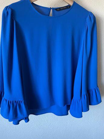 Blusa azul rei Zara