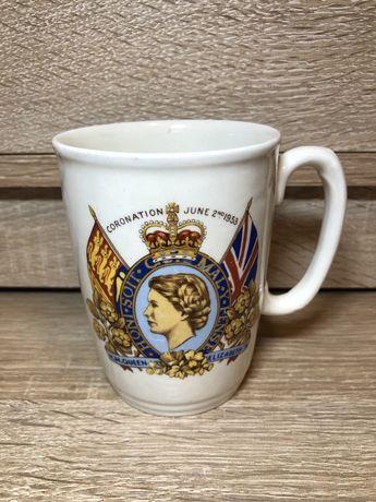 Антикварная чашка. England. 1953 год.