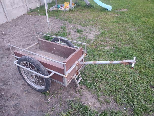 Wózek ogrodowy budowlany do kłada itp solidny  na dużych kołach