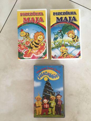 """""""Pszczółka Maja"""" bajki na kasetach VHS+Teletubisie"""