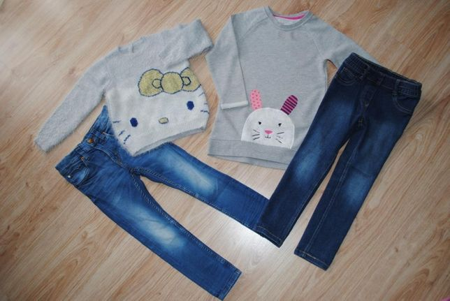 47-> 2cudowne zestawy bluza sweterek jegginsy 5.10.15 lupilu H&M r.104
