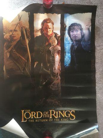 """Poster """"Senhor dos anéis"""" em inglês"""