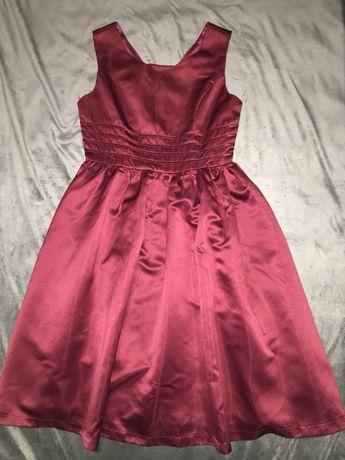 Платье атласное нарядное, выпускное, вечернее