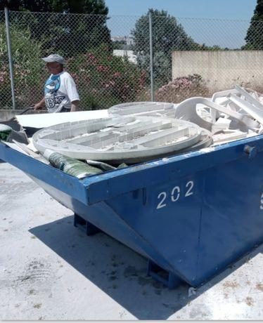 Alugamos contentores para todo o entulho de obras e resíduos urbanos