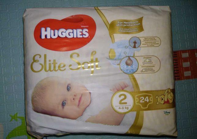 Підгузники Huggies Elit soft 1 і 2.