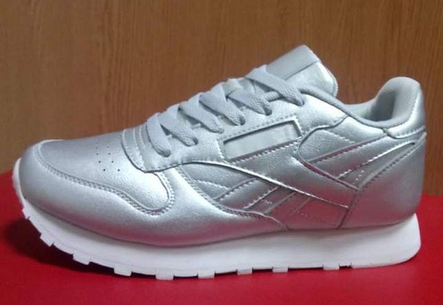 Кроссовки серебро 38 размер