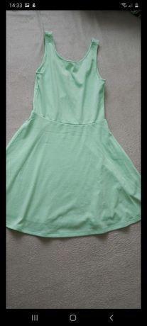 Miętowa sukienka 36