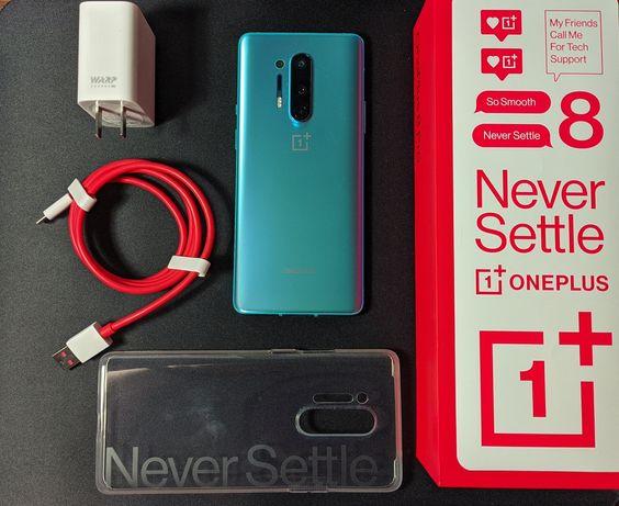OnePlus 8 Pro 8/128gb Glacier Green зелений повний комплект і чохол