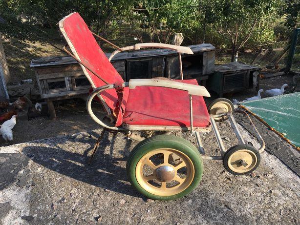 Ретро Каталка детская коляска детская для ребенка ретро 70 года СССР