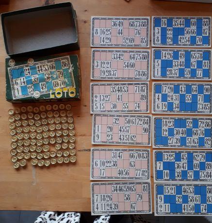 Jogo Loto Majora 1957 Coleção caixa 90 peças 12 cartões originais