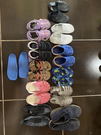 Детская обувь, кроксы, босоножки, кроссовки, чешки, ортопед стельки