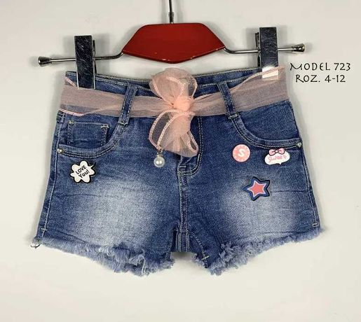 Krótkie spodenki jeansowe 104/110