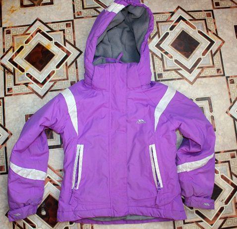 Куртка демисезонная Trespass на 3-4 года Лиловая термо лыжная