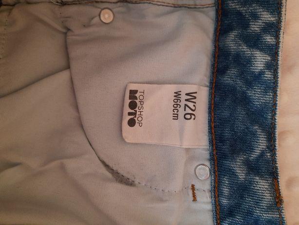Шорти, джинсові шорти, шокртики , джинс , topshop