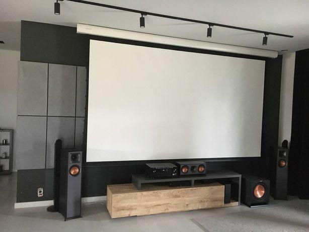 """Ekran projekcyjny, projektora 150"""" ESMART Expert XTS z naciągiem"""