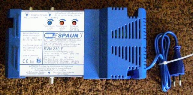Wzmacniacz do telewizji satelitarnej / naziemnej SVN 230 F SPAUN