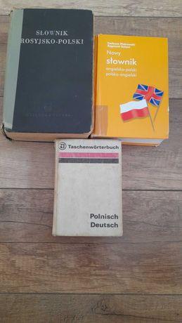 Słowniki niemiecki, rosyjski - oddam za kawę!