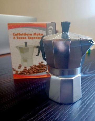 Кофеварка гейзерная нержавейка (3 чашки)