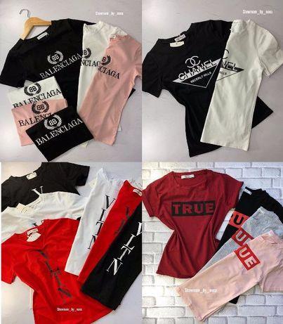 Женская футболка Vogue, Guess, Levis, Balenciaga, Tommy, Vltn жіноча