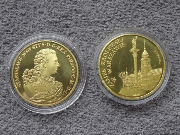 Stanisław August Poniatowski+Zamek Królewski W-wa_Złota Polska medal