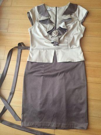 Elegancka sukienka z krótkim rękawem, rozm. XL