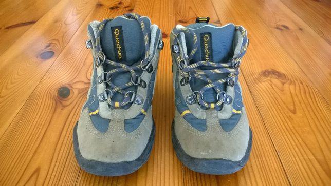 Dziecięce buty górskie turystyczne, Decathlon, trapery, rozmiar 30