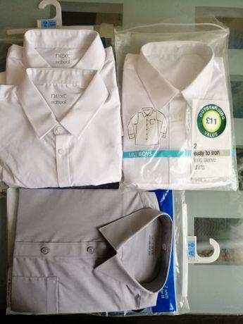 Рубашки новые M&S Next Англия белые серые 11-16 л 165-176 152-158