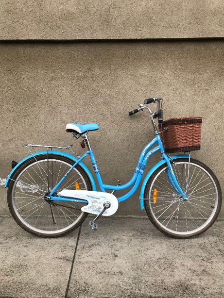 Rower w kolorze niebieskim, koła 26 cali.