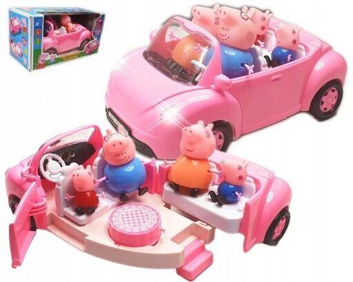 Świnka Peppa auto piknik figurki w zestawie