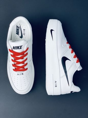 Мужские кожаные белые кроссовки Найк Nike af шкіряні кросівки Знижка!