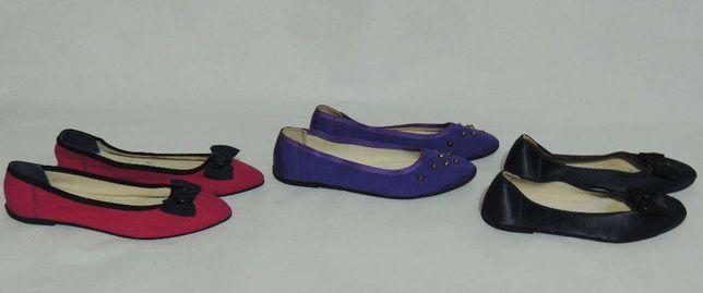 balerinki: czarne, purpurowe, fioletowe na stódniówkę, do tańca