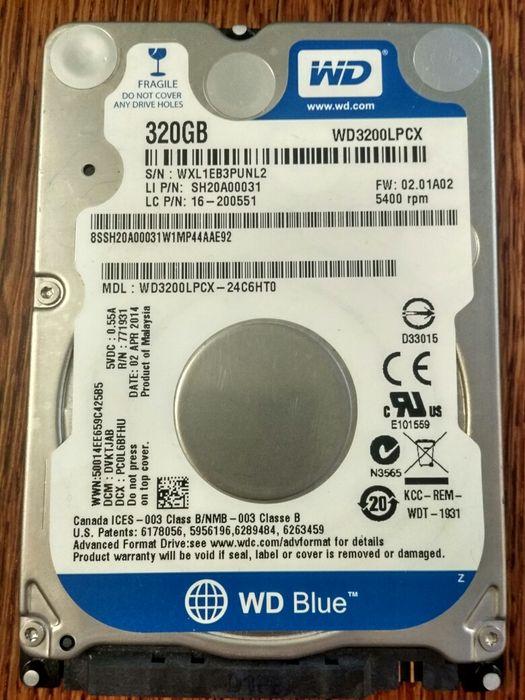 2.5'' WD Blue HDD, 320gb Винница - изображение 1