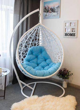 Подвесное кресло качалка. Кокон Качели гамаки из искусственного ротанг