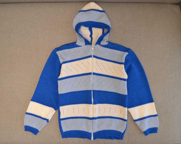 Теплый свитер худи на девочку или мальчика 8-9 лет. Новый!