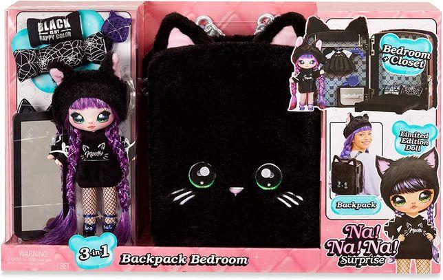 Мягкая Кукла и Рюкзачок Черная Кошечка Na! Na! Na! Backpack Bedroom