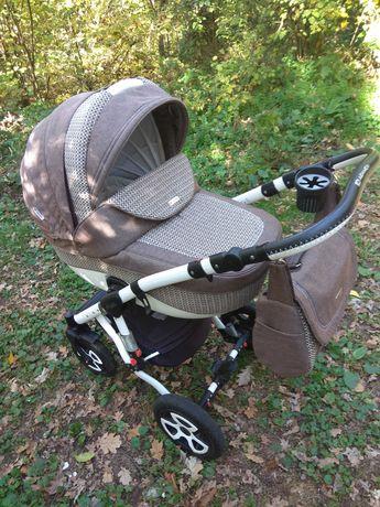 Детская коляска 2 в 1 Adamex Barletta Лен