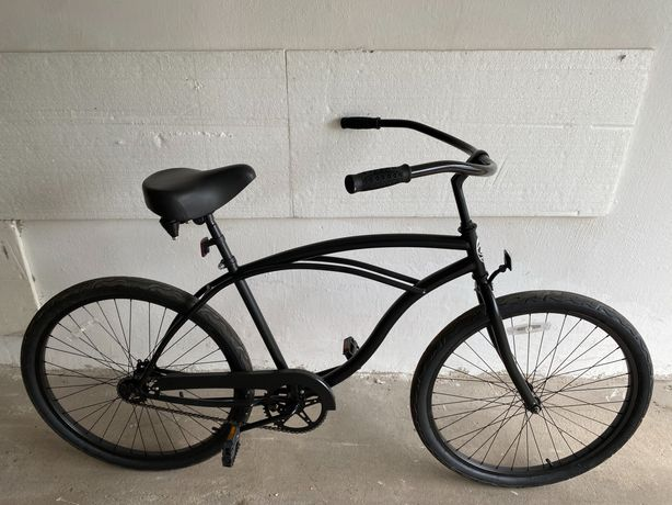Czarny stylowy rower damka ostre koło jak nowy