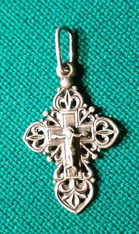 Крест нательный антикварный, серебро 925 пробы.