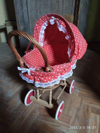 Wózek wiklinowy dla małej księżniczki