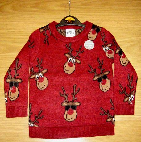Красный вязаный рождественский джемпер George