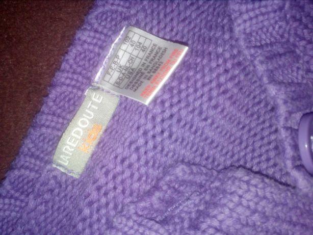 Sweterek 110 bluza swetr blezer narzutka kordigan