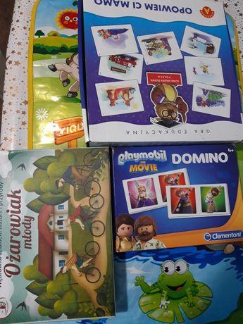 Gra, domino playmobil i karty do opowiadania