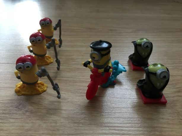 figurki minionki, wróżki kinder