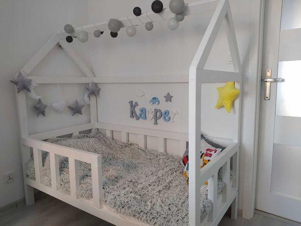 Łóżko dziecięce domek + stelaż + materac TORO